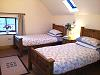 The bedrooms in Drummeenagh Cottages